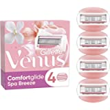 Gillette Venus ComfortGlide Spa Breeze Razor Blades for Women, Pack of 4 Refill Blades (Packaging May Vary)