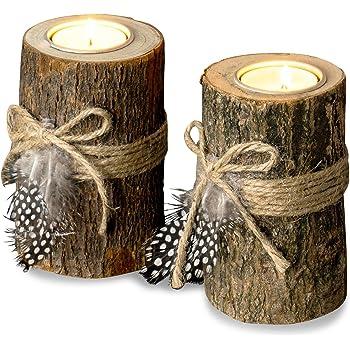 Teelichthalter Stern Olivenholz Kerzenständer Kerzenhalter Teelicht Halter Holz