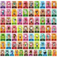 Kosiy ACNH Tiny NFC Tag Game Villager Invite Cards - 72 PCS Mini NFC Tag Game Cards for ACNH And Other Series for Switch/Swit
