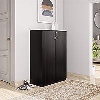Amazon Brand - Solimo Aquilla Engineered Wood Storage Unit Brown , 2 Doors