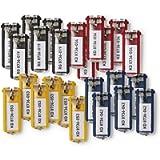 Durable 194927 PortaChiavi Key Clip, con Porta Etichetta Facile da Aprire, 24 Pezzi, Colori Assortiti