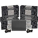 Vaadi Herbals Pvt Ltd Super Value Pack Of 6 Activated Charcoal Soap (6 X 75 Gms), 75 g