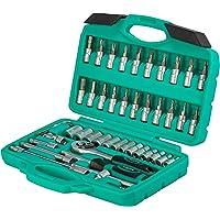 Set cricchetti e bussole da 46 pezzi   WIESEMANN 80089   lega acciaio in cromo e vanadio   bussole e punte   1/4…
