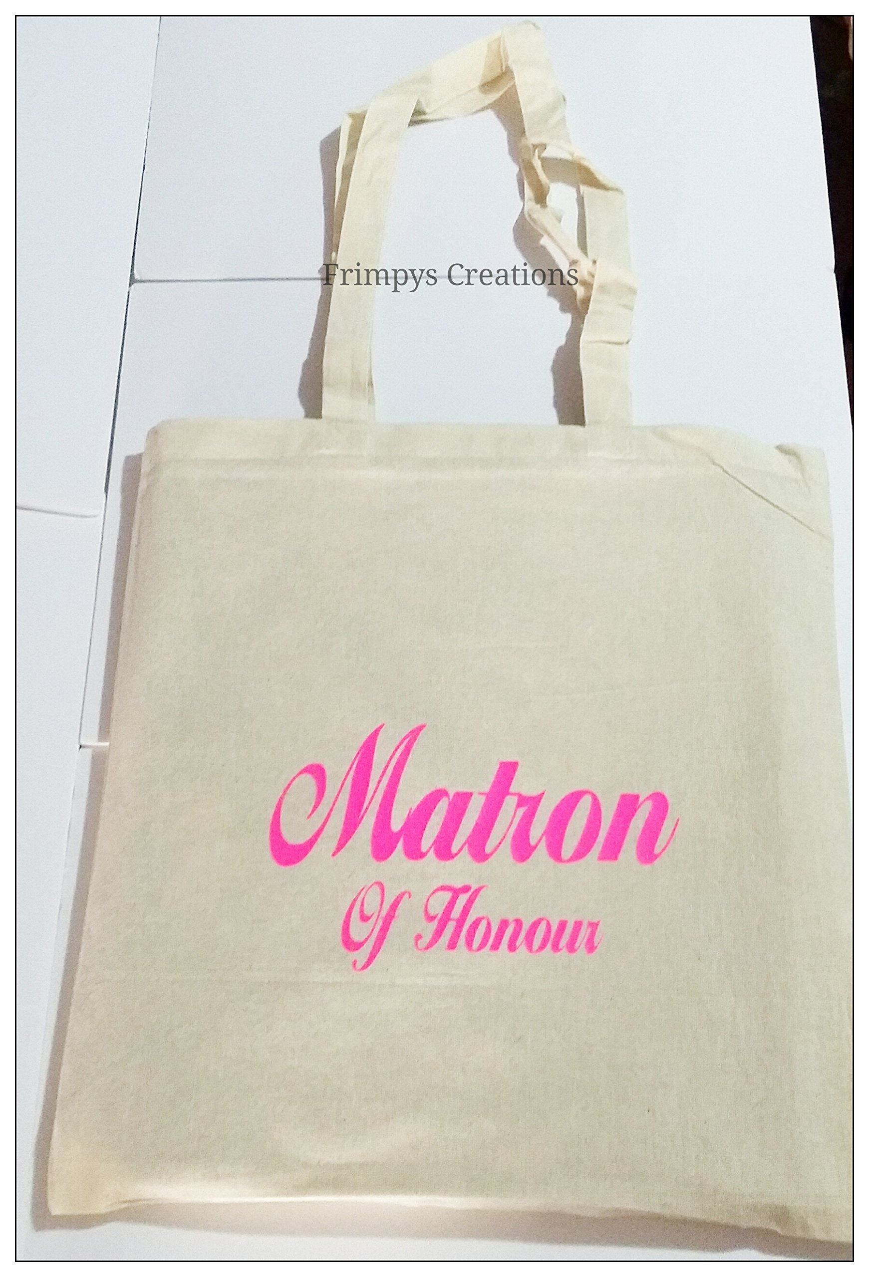 Wedding Favour Tote Bag cotton Printed Gift Present Keep Matron Of Honour Novelty (BAG) - handmade-bags