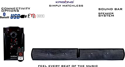 KRISONS Superstar Multimedia Bluetooth Sound Bar System