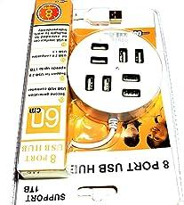 Cripston USB Hub 3.0   8 Ports High Speed for Laptop, Dekstop, Phones S-021 Round