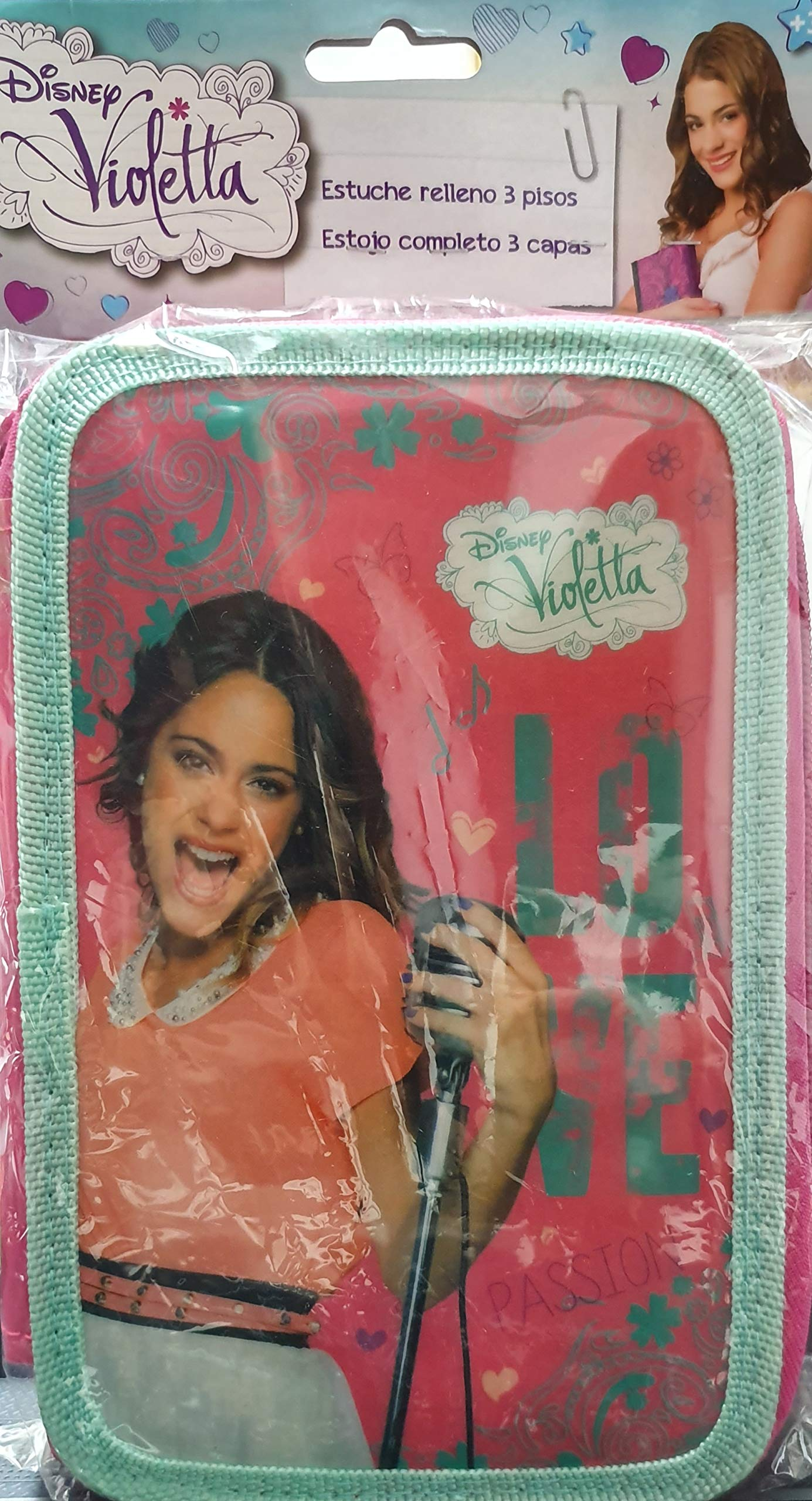 Violetta BG73 – Estuche con 3 cremalleras