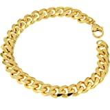 Bracciale in oro 750 Doublé 9 mm di lunghezza a scelta, bracciale da uomo in oro da donna regalo gioielli dalla fabbrica Ital
