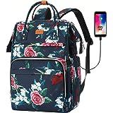 RJEU Rucksack Damen,Schulrucksack Mädchen Teenager mit Anti-Diebstahl Tasche & USB-Ladeanschluss,Laptop Rucksack Schule mit 1
