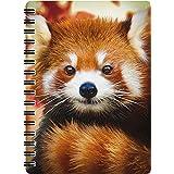 3D LiveLife Jotter - Baby Roter Panda von Deluxebase. Lentikulares 3D Roter Panda A6 Spiral-Notizbuch mit Recyclingpapierseit