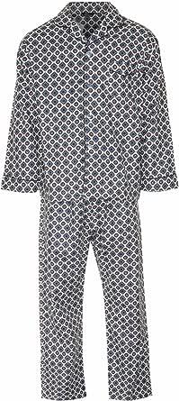 Mens Brushed Cotton Pyjama Set Nightwear Flannelette Pyjamas S M L XL XXL 3XL (Small, Navy Diamond)