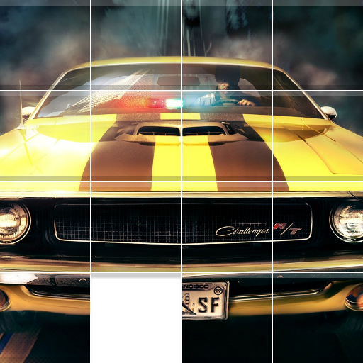 Muscle Cars Sliding Jigsaw