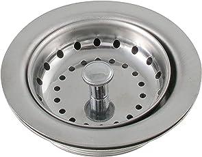 LDR 501 1200 Duo Kitchen Sink Strainer, Heavy Gauge Stainless Steel, Chrome