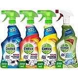 Dettol Trigger Domain Bundle - Pack of 4 - Bathroom Cleaner, Kitchen Trigger, Lemon All Purpose Cleaner, and Mold & Mildew Re