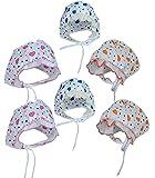 PEUBUD ® Soft Cotton New born babies Printed Bonnets Caps/Topi/Hats 0-3 months (Pack of 0-6)
