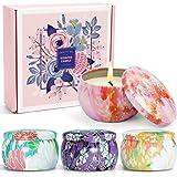 LA BELLEFÉE Bougies Parfumées à la Cire de Soja Naturelle Coffret Cadeau pour Amis, Copine, Femme et Mère, pour la Détente et