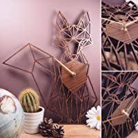 Fox Clock. Geometric Wooden Fox Clock. Fox. Perfect for fox lovers. Ideal gift for fox osessives. Fox your friends with...