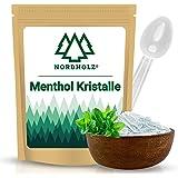 NORDHOLZ® Mentholkristalle [100gr] für Sauna in Premium Qualität aus 100% Minzöl - Befreit die Atemwege und sorgt für natürli