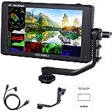 Feelworld LUT6 6 Pollici 2600nits HDR / 3D LUT Touch Screen DSLR Monitor da Campo con Fotocamera Istogramma VectorScope 4K Us
