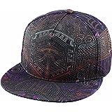 Samtree Adjustable 3D Printed Flat Bill Baseball Cap,Hip Hop Dancing Snapback Hat
