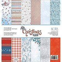 Christmas Tale Lot de 12 papiers 30,5 x 30,5 cm