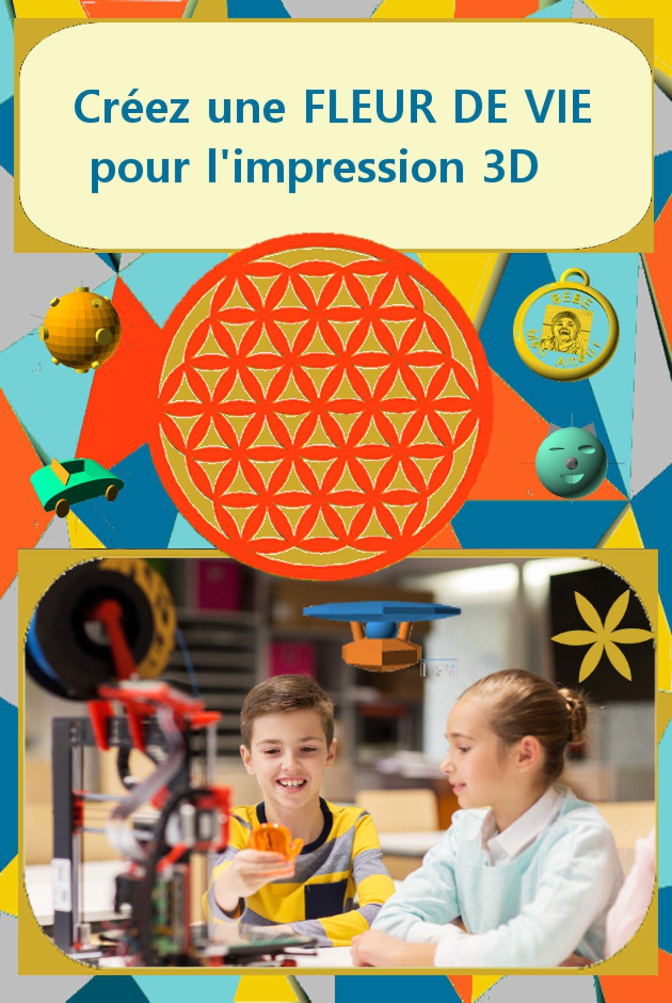 Créez une FLEUR DE VIE pour l'impression 3D: ainsi que 10 autres objets avec OpenSCAD