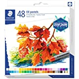 Staedtler Pastels à l'huile de très haute qualité, Couleurs profondes et résistantes à l'eau, Étui carton avec 48 couleurs as