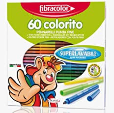 Etafelt 135020.28 Pennarelli Colorito, Fibracolor, 60 Pezzi