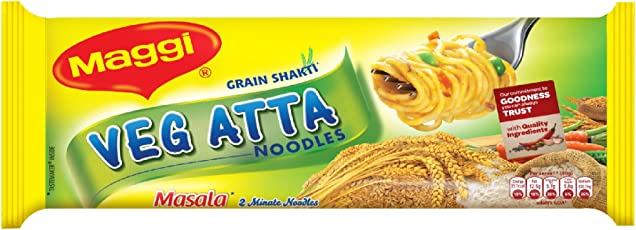 Maggi 2 Minutes Noodles, Vegetable Atta, 320g