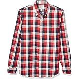 Marca Amazon - Goodthreads – Camisa reversible de manga larga de corte entallado para hombre