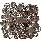 200 grammes assorties Vintage Métal de cuivre Steampunk faire des charmes Cog Watch Wheel (200Gram, cuivre)