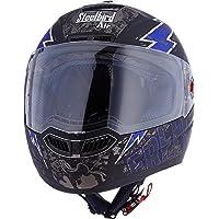 Steelbird SBA-1 Free Live Matt Black with Blue with Plain visor,580mm