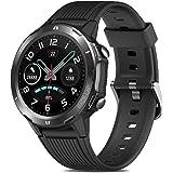 Reloj Inteligente Hombre, GRDE Smartwatch Mujer Redondo 12 Modo Deportivo con (Monitor de Ritmo Cardíaco/Sueño/Calorías) Relo