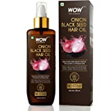 WOW Skin Science Onion Oil - Black Seed Onion Hair Oil - Controls Hair Fall - No Mineral Oil, Silicones & Synthetic Fragrance
