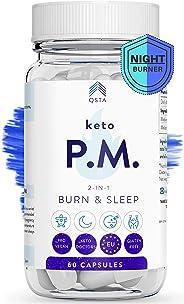 Keto Plus Adelgazar PM (60 DIAS), Quemagrasas potente para adelgazar sin ejercicio mientras duermes, Pastillas para adelgazar