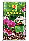 COMPO SANA Orchideenerde mit 8 Wochen Dünger für alle Orchideenarten, Kultursubstrat aus Pinienrinde , 5 Liter