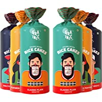 GRAINIC Organic Rice Cakes I Assorted Saver Pack I Biggest Pack I Vegan, All Natural, Gluten Free (6 X 135g)