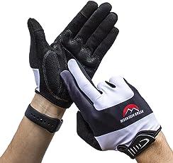 Vollfinger Radsport Handschuhe, Touchscreen Kompatibel, Fahrradhandschuhe für Herren und Damen, für Rennrad, Mountainbike, Krafttraining, Fitness, Crossfit, Bergsteigen, Sport