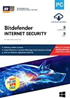 BitDefender Internet Security Latest Version with Ransomware Protection (Windows) - 3 User, 3 Years (Email Delivery in 2 hours - No CD)
