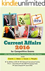 Current Affairs 2016 for Competitive Exams - UPSC/ State PCS/ SSC/ Banking/ Insurance/ Railways/ BBA/ MBA/ Defence
