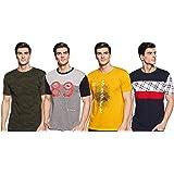 ACTIQUE Men's Regular Fit T-Shirt(Pack of 4)