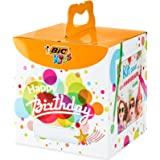 BIC 945770 - Kids Colouring Box Kit Anniversario, 12 Matite per Colorare, 12 Pennarelli per Colorare, 12 Pastelli a Olio, 6 T