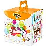 BIC 945770- Kids Colouring Box Kit Anniversario, 12 Matite per Colorare, 12 Pennarelli per Colorare, 12 Pastelli a Olio, 6 T