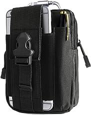 Unigear Taktische Hüfttaschen Herren, mit Aluminiumkarabiner, Gürteltasche Bauchtasche Handytasche Molle Tasche Multifunktional Outdoorsport, Kompakt und leicht