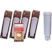 Human-Wellness Lot de 4 cartouches filtrantes pour toutes les machines à café Nivona + 10 tablettes de nettoyage.