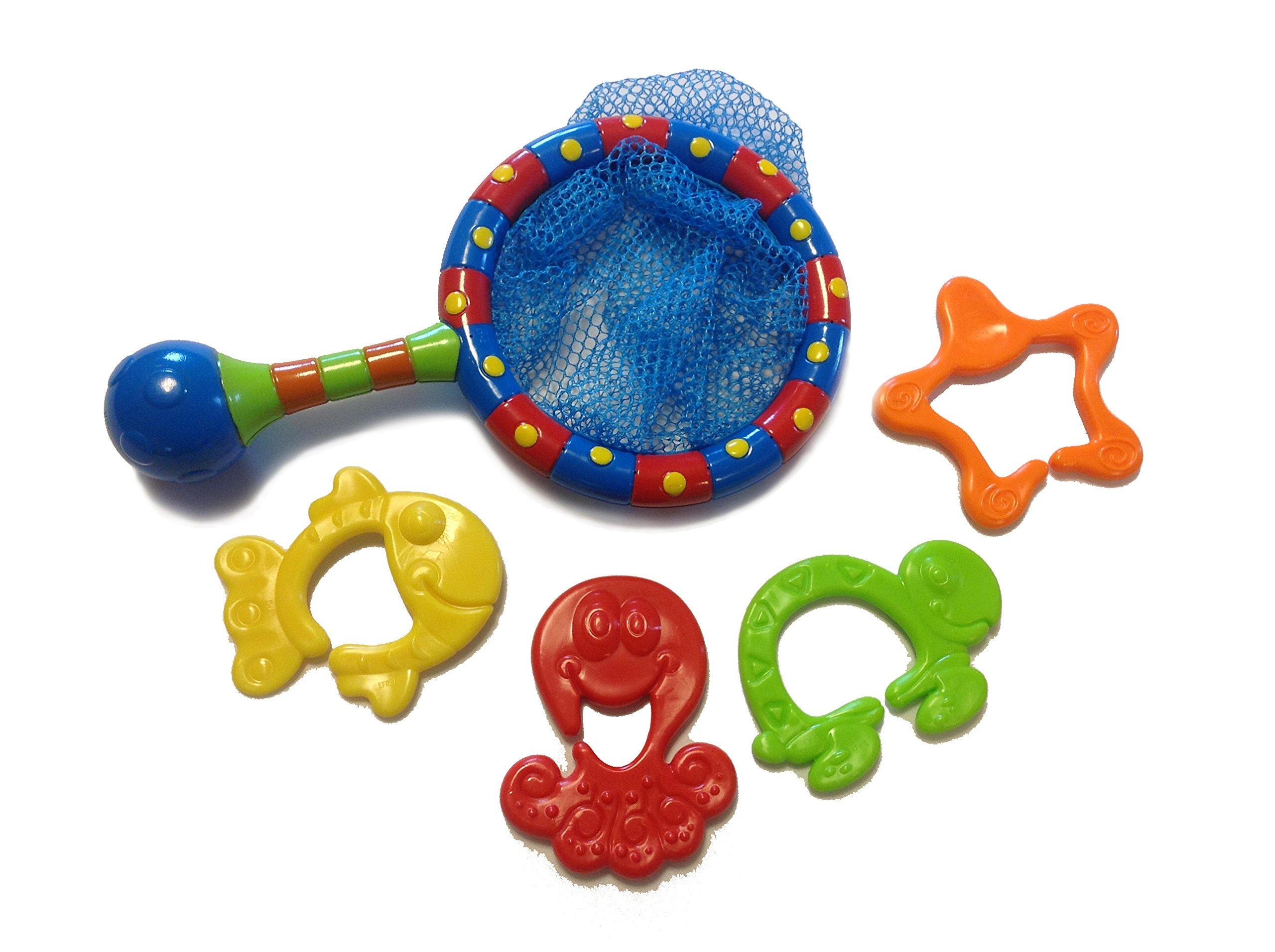 Nuby Splash N' Catch Fishing Set Bath Toy, Multi 2