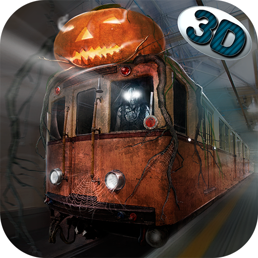 Spooky Halloween Subway Train Driver 3D: Metro Simulator Spooky Halloween Underground Train Station