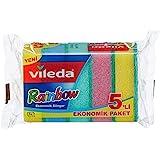 Vileda Ekonomik Bulaşık Süngeri, 5'li Ekonomik Paket, Rainbow