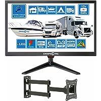 20 Pouces (51cm) 12V / 240V HD+ LED Numérique TV DVB-T/T2 (TNT) USB PVR & Lecteur multimédia; Idéal pour: Maison…