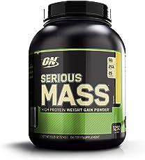 Optimum Nutrition (ON) Serious Mass Weight Gainer Powder - 6 lbs, 2.72 kg (Banana)